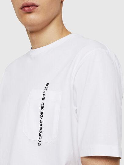 Diesel - T-JUST-POCKET-COPY, Blanc - T-Shirts - Image 3