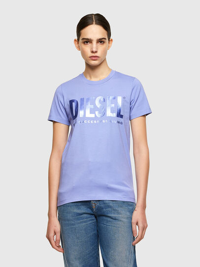 Diesel - T-SILY-WX, Lilas - T-Shirts - Image 1