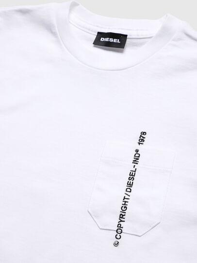 Diesel - TJUSTPOCKETCOPY, Blanc - T-shirts et Hauts - Image 3