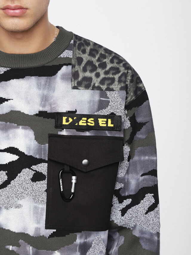 Diesel - K-CAMOU-E, Vert Militaire - Pull Maille - Image 3