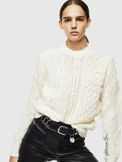 Diesel - K-BRIGLY, Blanc - Pull Maille - Image 6