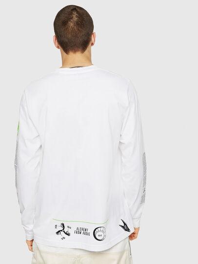Diesel - T-JUST-LS-NEW, Blanc - T-Shirts - Image 2
