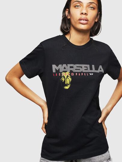 Diesel - LCP-T-DIEGO-MARSELLA, Noir - T-Shirts - Image 2