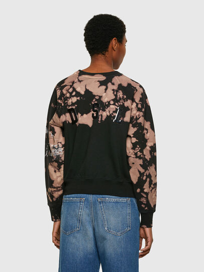 Diesel - F-FABLE, Noir/Rose - Pull Cotton - Image 2
