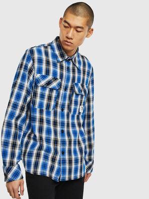 S-GERRY-CHECK, Bleu/Noir - Chemises