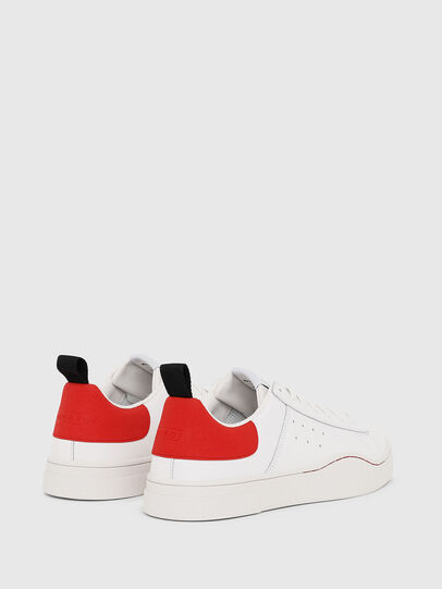 Diesel - S-CLEVER LOW, Blanc/Rouge - Baskets - Image 3