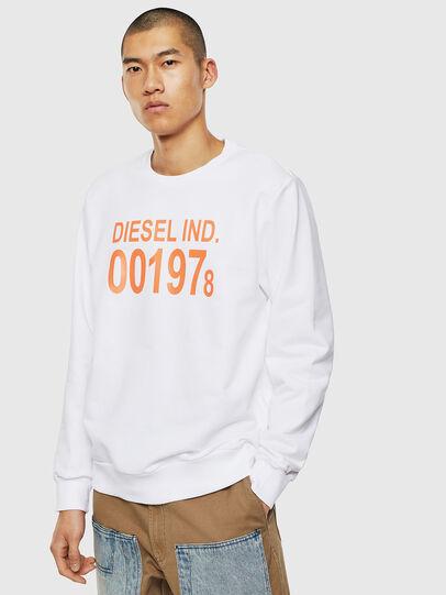 Diesel - S-GIRK-J3, Blanc - Pull Cotton - Image 1