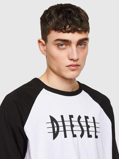 Diesel - T-BEISBOL, Blanc - T-Shirts - Image 3