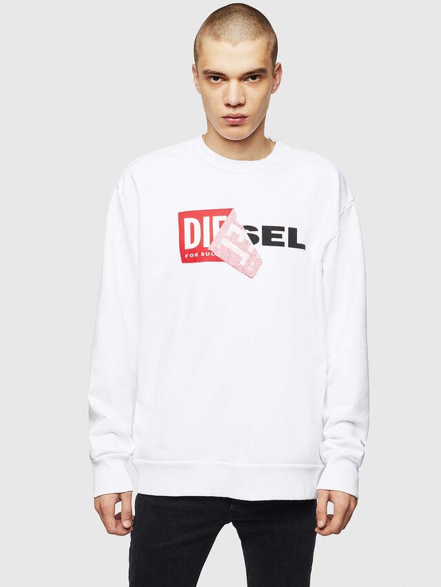 Diesel - S-SAMY, Blanc - Pull Cotton - Image 1