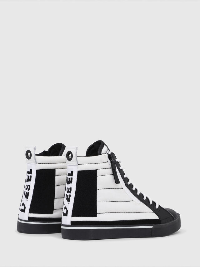 Diesel - D-VELOWS MID PATCH, Blanc/Noir - Baskets - Image 3
