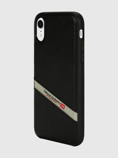 Diesel - DIESEL LEATHER CO-MOLD CASE FOR IPHONE XR, Noir - Coques - Image 5