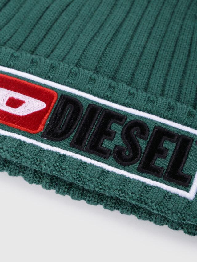 Diesel - K-CODER-B, Vert - Bérets, chapeaux et gants - Image 3