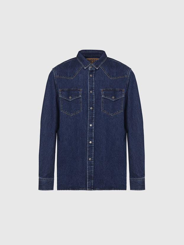 D-EAST-P, Bleu Foncé - Chemises en Denim