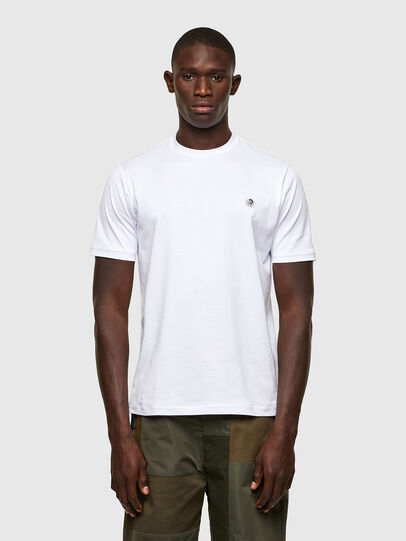Diesel - T-JUSTY, Blanc - T-Shirts - Image 1