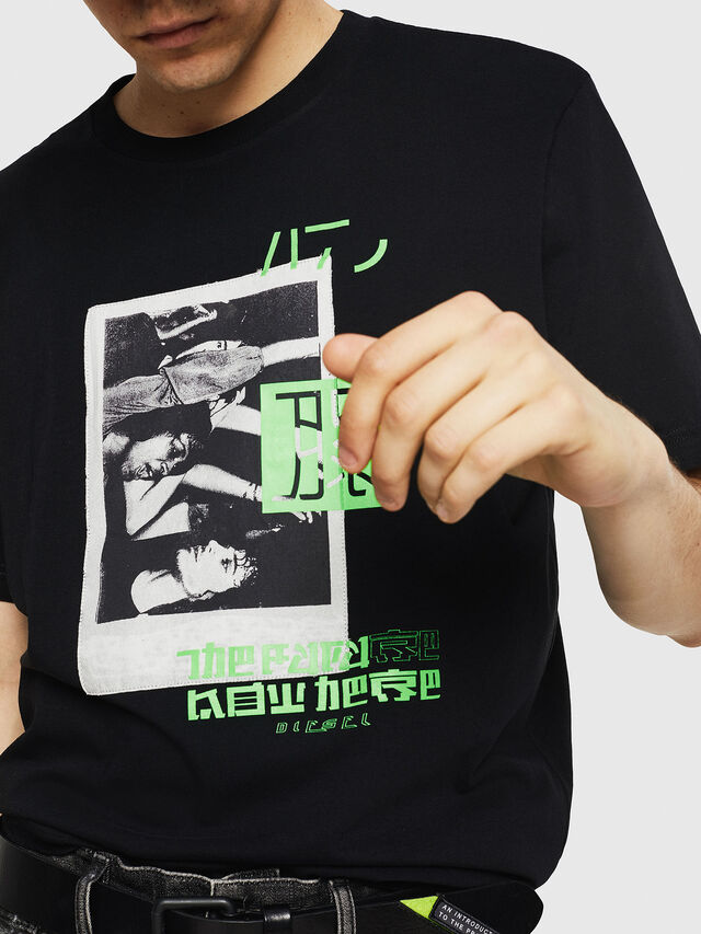 Diesel - T-JUST-Y21, Noir - T-Shirts - Image 3