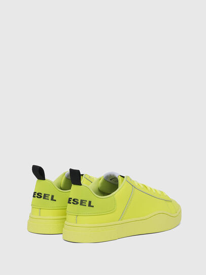Diesel - S-CLEVER LOW LACE W, Jaune Fluo - Baskets - Image 3