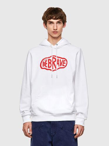 Sweat-shirt à capuche avec imprimé Be Brave