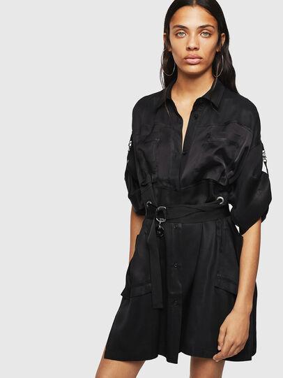 Diesel - D-TIEP, Noir - Robes - Image 1