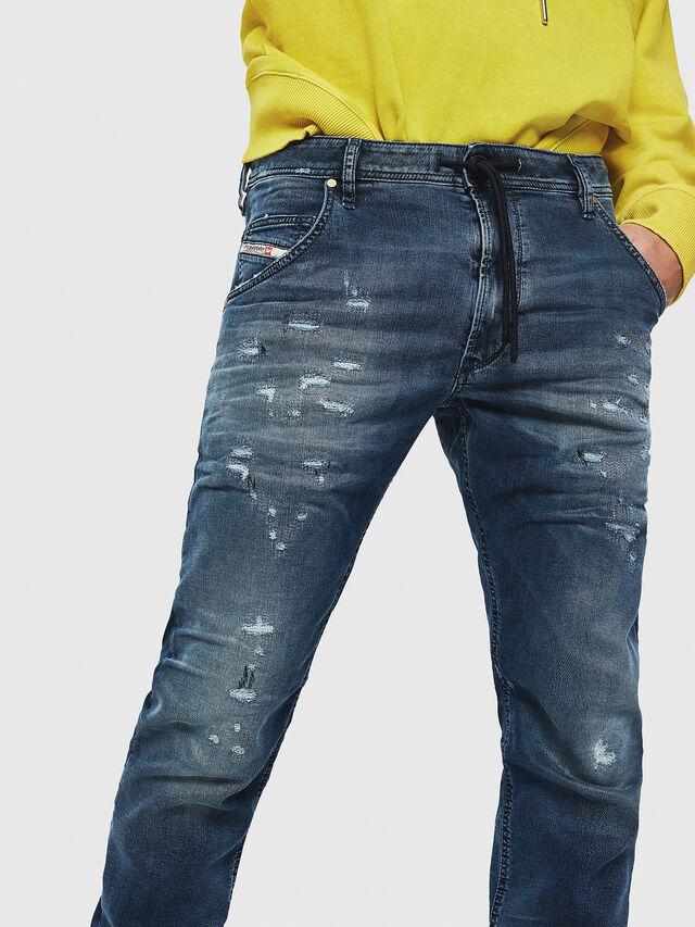 Diesel - Krooley JoggJeans 069HA, Bleu moyen - Jeans - Image 3
