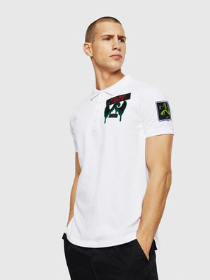 T-POLO-PATCHES, Blanc - Polos