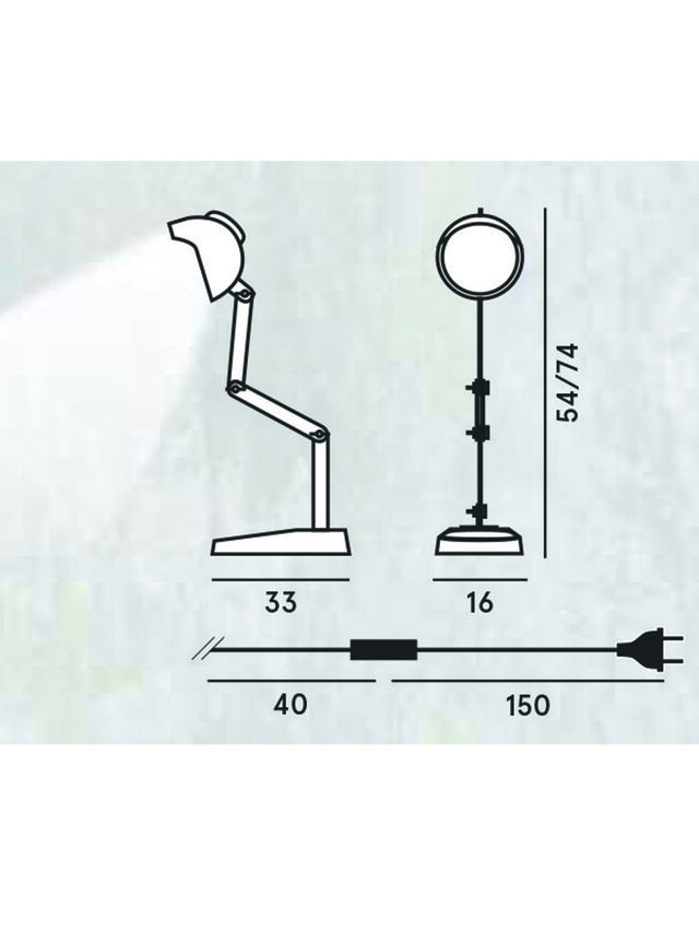 Diesel - DUII TAVOLO, Vert/Gris - Éclairages De Table - Image 2