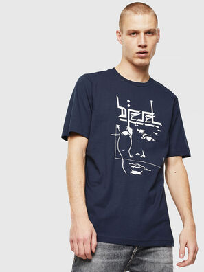T-JUST-J14, Bleu/Blanc - T-Shirts