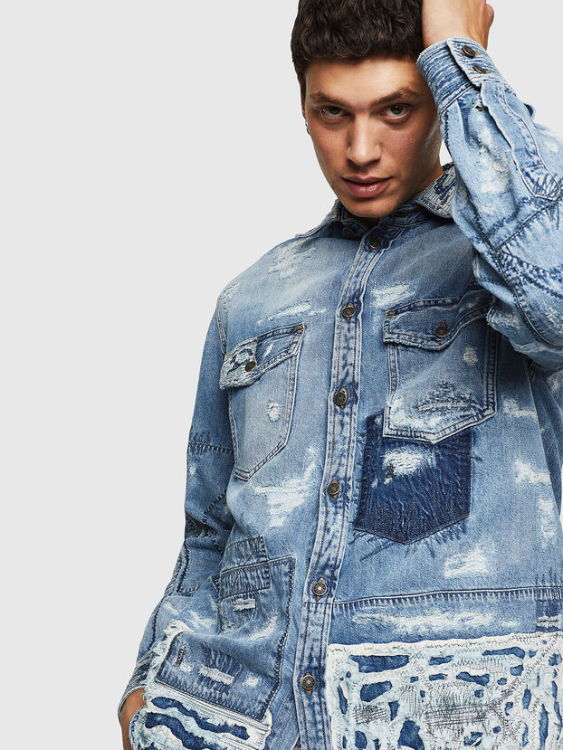 D-HISAKY-SY, Jean Bleu - Chemises en Denim