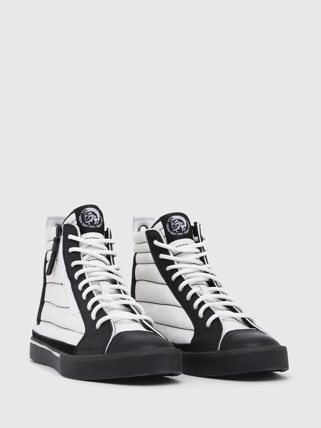 Diesel - D-VELOWS MID PATCH, Blanc/Noir - Baskets - Image 2