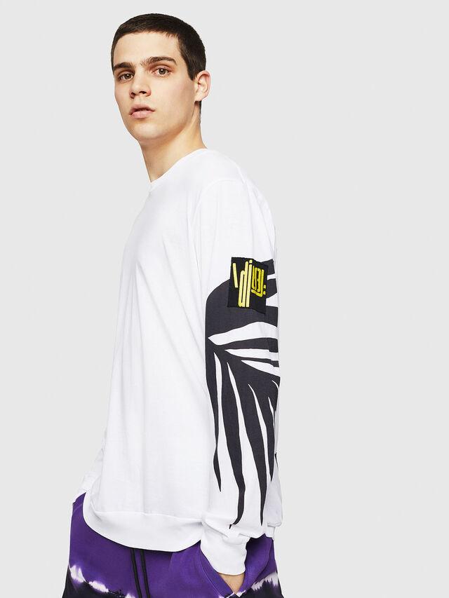Diesel - T-JUST-LS-RIB, Blanc - T-Shirts - Image 4