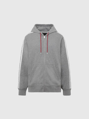 UMLT-BRANDON-Z, Gris Clair - Pull Cotton