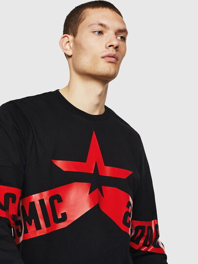 Diesel - T-JUST-LS-STAR, Noir - T-Shirts - Image 3