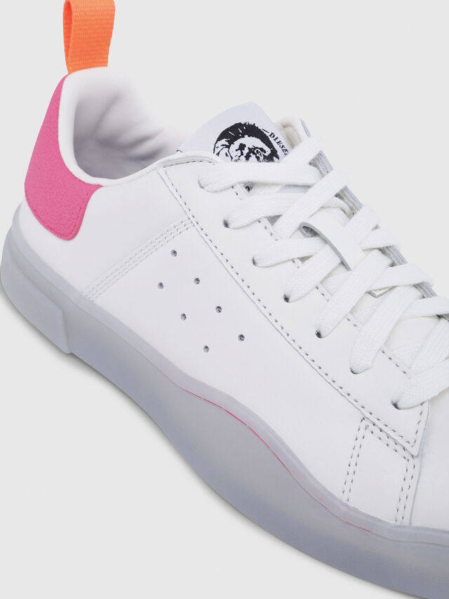 Diesel - S-CLEVER LOW W, Blanc/Rose - Baskets - Image 4