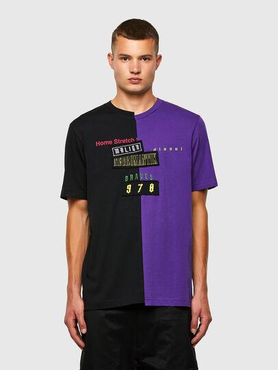 Diesel - T-JUBBLE-N1, Noir/Bleu - T-Shirts - Image 1