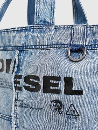 Diesel - D-THISBAG SHOPPER L, Bleu Clair - Cabas et Sacs d'Épaule - Image 4