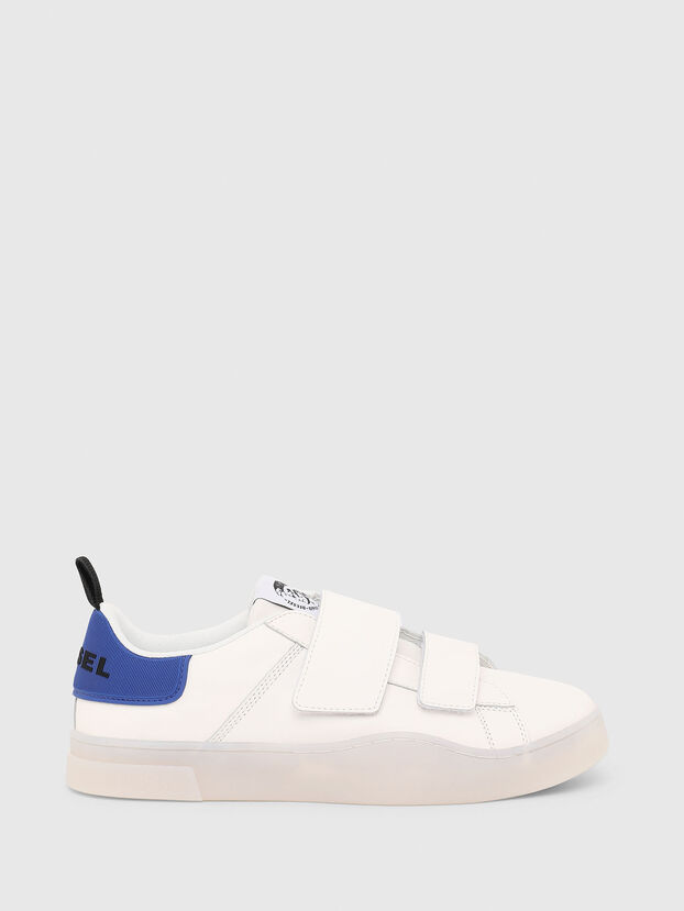 S-CLEVER LOW STRAP, Blanc/Bleu - Baskets