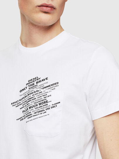 Diesel - T-WORKY-S1, Blanc - T-Shirts - Image 3