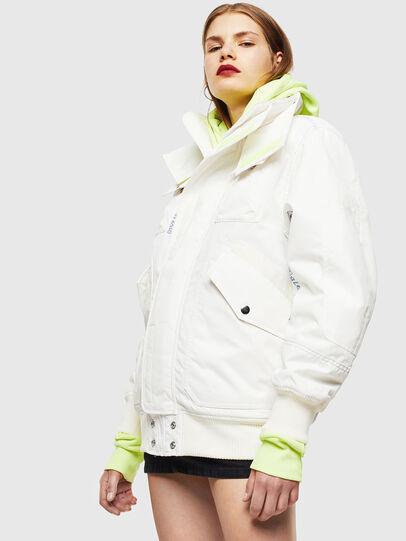 Diesel - W-OKSO, Blanc - Vestes d'hiver - Image 2