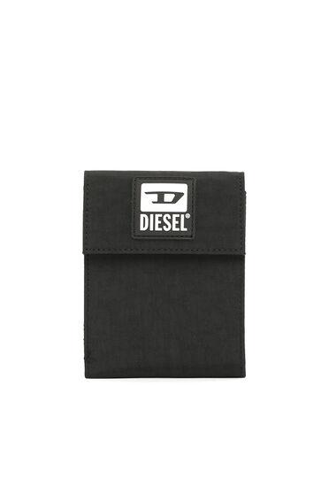 Portefeuille Velcro avec lanière et empiècement D