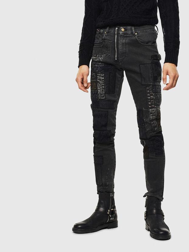 D-Strukt 0093P, Noir/Gris foncé - Jeans
