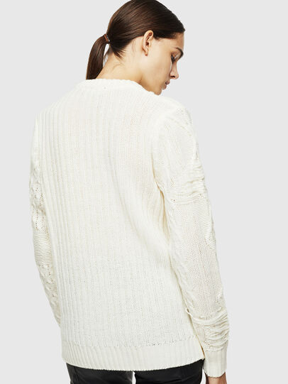 Diesel - K-BRIGLY, Blanc - Pull Maille - Image 4