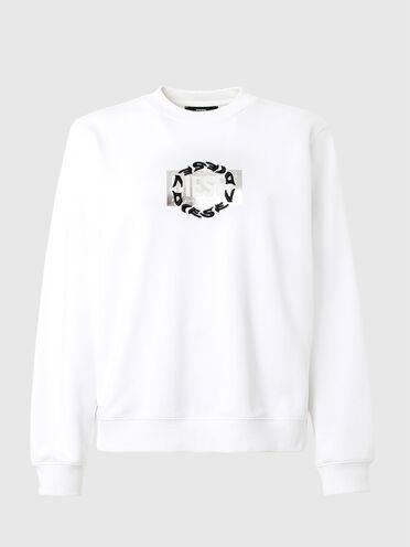 Sweat-shirt avec double logo