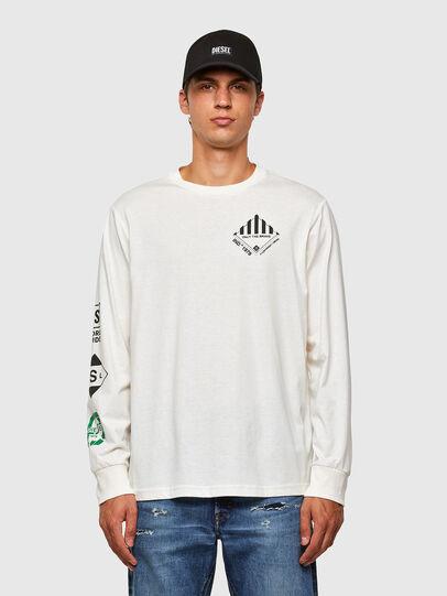 Diesel - T-JUST-LS-N60, Blanc - T-Shirts - Image 1