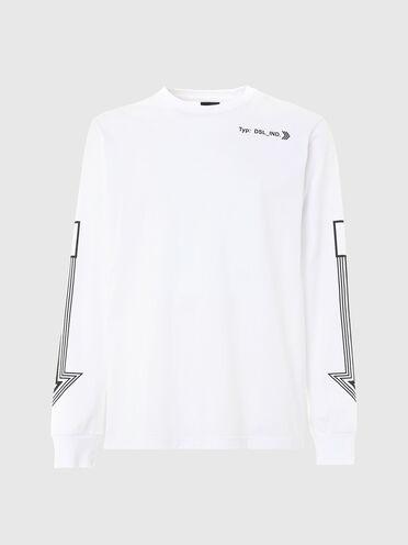 T-shirt à manches longues avec imprimé flèche