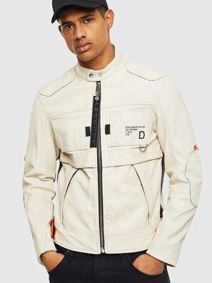 L-DIXON, Blanc - Vestes de cuir