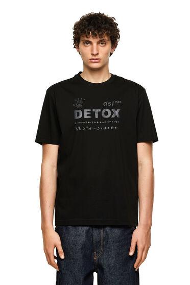 T-shirt avec imprimé à l'encre gonflante ton sur ton