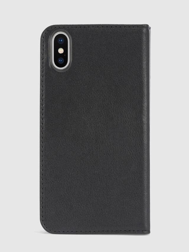 Diesel - BLACK DENIM/STUD/ZIPPER IPHONE X FOLIO, Noir - Coques à rabat - Image 3