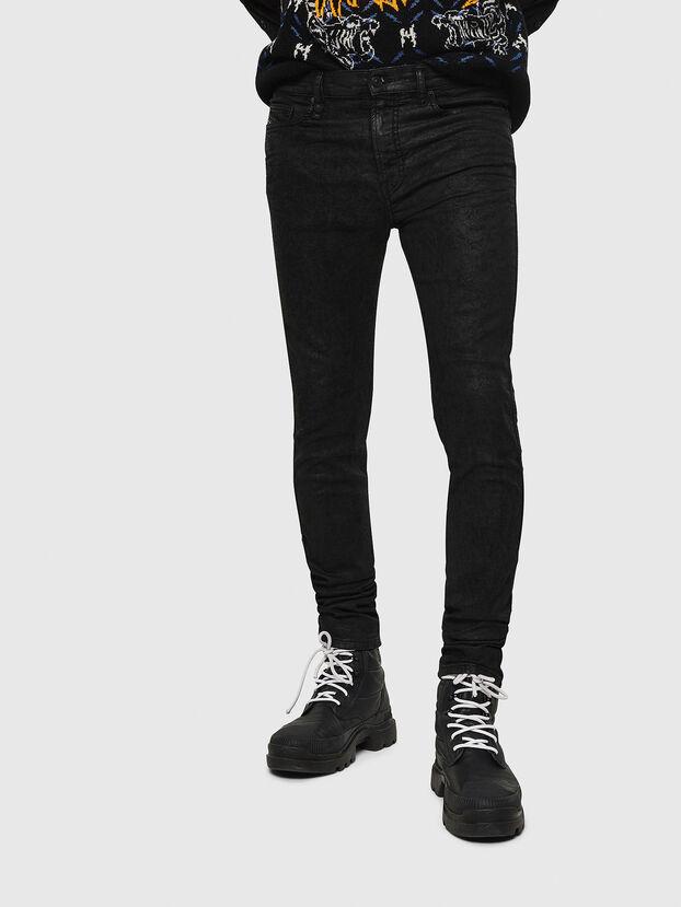 D-Reeft JoggJeans 084AG, Noir/Gris foncé - Jeans