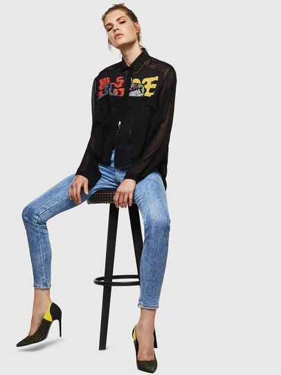 Diesel - Gracey JoggJeans 0870P, Bleu Clair - Jeans - Image 4