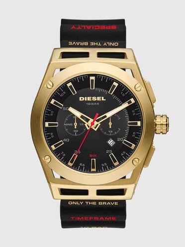 Montre Timeframe chronographe en silicone noir