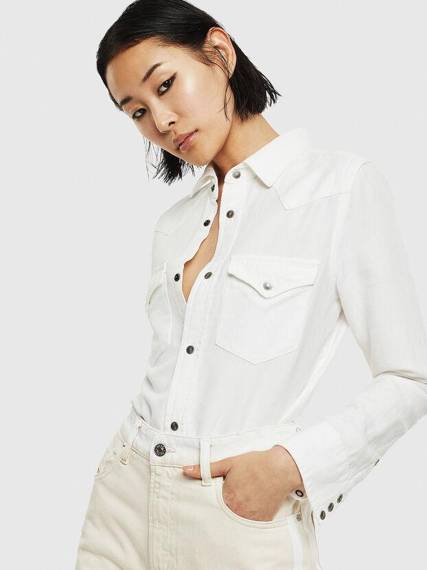 DE-RINGY, Blanc - Chemises en Denim